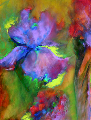 Floral Painting - Passionate Garden - Abstract by Georgiana Romanovna