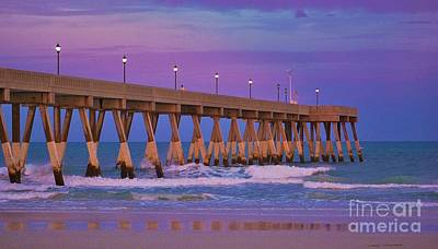 Photograph - Passionate Purple Pier by Bob Sample