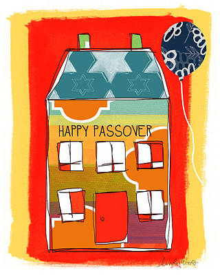 Stripes Mixed Media - Passover House by Linda Woods