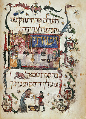 Religious Festival Photograph - Passover Scene by British Library