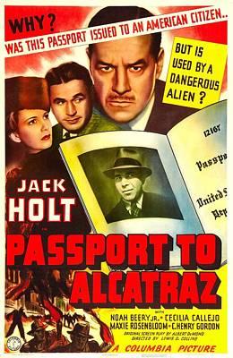 Passport To Alcatraz, Us Poster Art Print by Everett