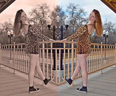 Young Woman Photograph - Past And Future Cherish The Present 2014 by James Warren