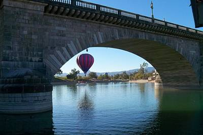 Hot Air Balloon Photograph - Past And Present Meet by Adrienne Wilson