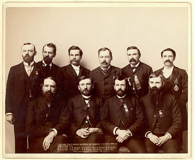Nugent Photograph - Past Grand Masters Of Dakota I.o.o. F., 1890, At Deadwood by Litz Collection
