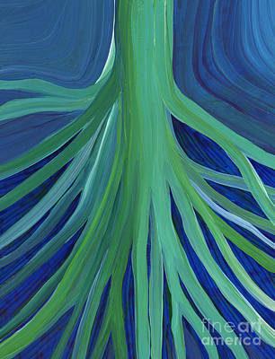 Tree Roots Painting - Past Lives By Jrr by First Star Art