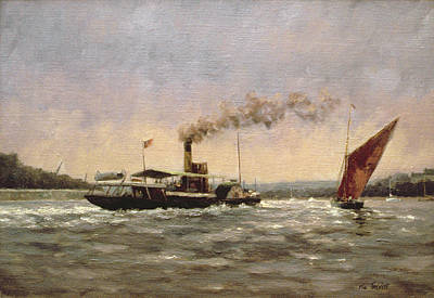 Steamboat Photograph - Past On The Medway by Vic Trevett