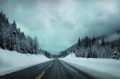 Winter Roads Photograph - Past The Hills  by Jerry Cordeiro