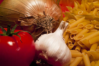 Photograph - Pasta And Vegetables by Michael Dorn