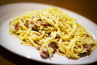 Photograph - Pasta Carbonara by Nicholas Evans