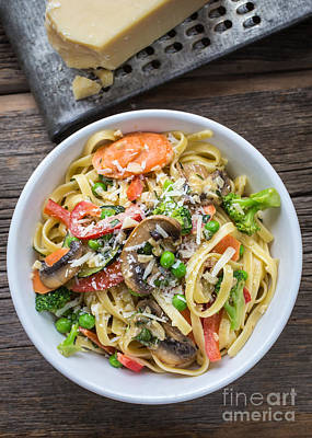 Tasty Photograph - Pasta Primavera Dish by Edward Fielding