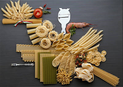 Spaghetti Noodles Photograph - Pasta by R. Marcialis