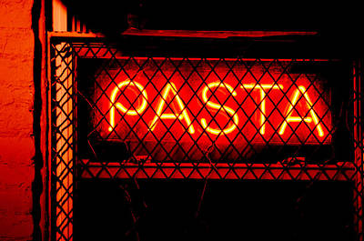 Photograph - Pasta Sign by La Dolce Vita