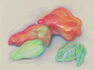 Pastel - Paste Tomatoes And Basil by MM Anderson
