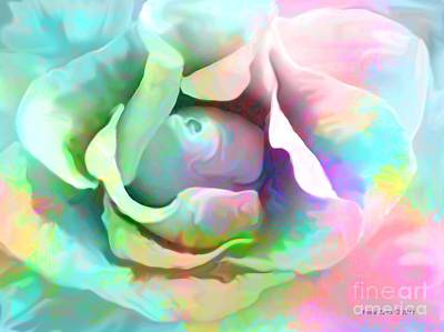 Painting - Pastel Color Flower by Annie Zeno
