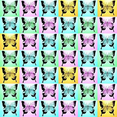 Abstract Image Of A Butterfly Photograph - Pastel Dream by Cathy Jacobs