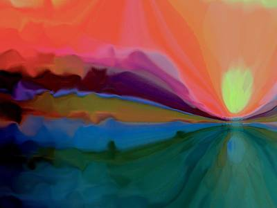 Mixed Media - Pastel Dusk by Terence Morrissey