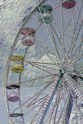 Photograph - Pastel Ferris Wheel by Nadalyn Larsen