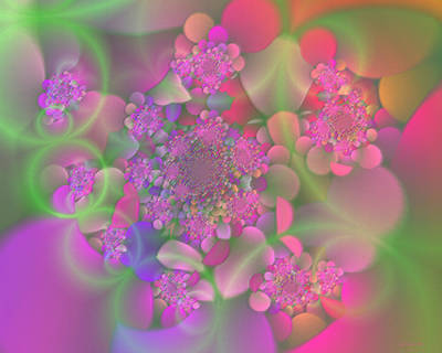 Digital Art - Pastel  Fractal Flower Garden by Judi Suni Hall