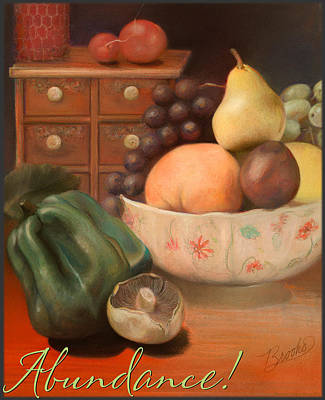 Pastel - Abundance 2 - Pastel Art - Still Life by Brooks Garten Hauschild