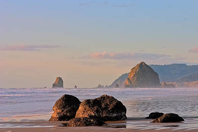 Photograph - Pastel Haystack Rock by Joseph Bowman
