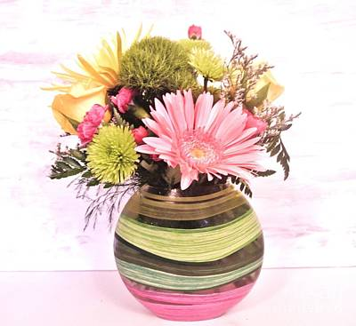 Gerber Daisy Photograph - Pastel Love Bouquet by Marsha Heiken