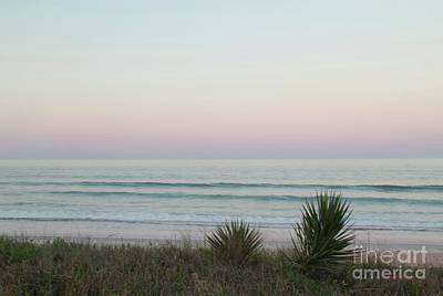 Art Print featuring the photograph Pastel Moonrise by Dodie Ulery
