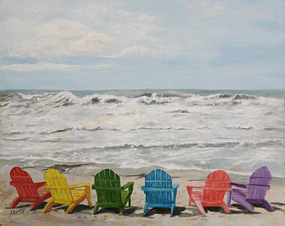Print featuring the painting Pastel Paradise by Sandra Nardone
