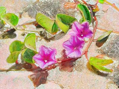 Painting - Pastel Purple Beach Vine - Horizontal by Lyn Voytershark