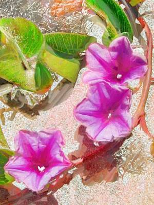 Painting - Pastel Purple Beach Vine - Vertical by Lyn Voytershark