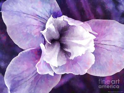 Animal Portraits - Pastel Purple Orchid by Gena Weiser