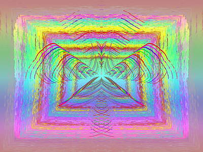 Digital Art - Pastel Rainbow Reverberations by Tim Allen