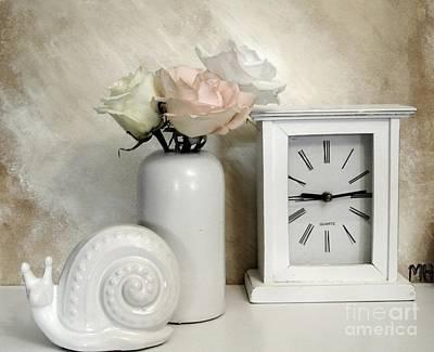 Wrap Digital Art - Pastel Rose Bouquet by Marsha Heiken