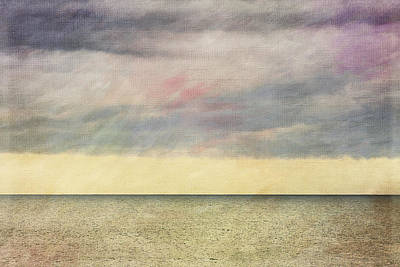 Photograph - Pastel Sea - Textured by Karen Stephenson