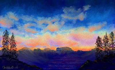 Pastel Sky Art Print by Kerry Mitchell