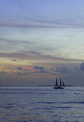 Mallory Square Key West Wall Art - Photograph - Pastel Sky by Laurie Perry