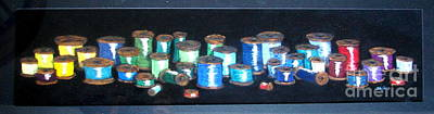 Bob Ross Sewing Colors Pastel - Pastel Spools-coat Of Many Colors by Joseph Hawkins