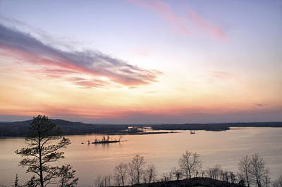 Pastel Sunset Over The Arkansas River Art Print