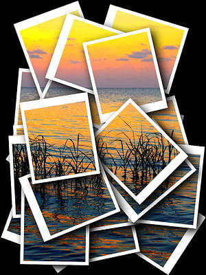 Photograph - Pastel Sunset Photo Stack 1 by Sheri McLeroy
