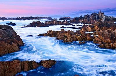 Mick Jagger - Pastel Tides - Rocky Asilomar Beach in Monterey Bay at sunset. by Jamie Pham