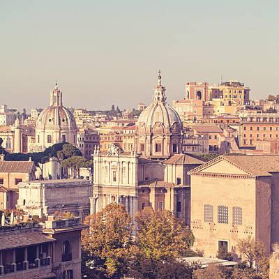 Photograph - Pastello - Rome, Italy by Melanie Alexandra Price