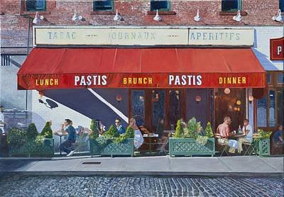 Cobblestone Painting - Pastis by Anthony Butera