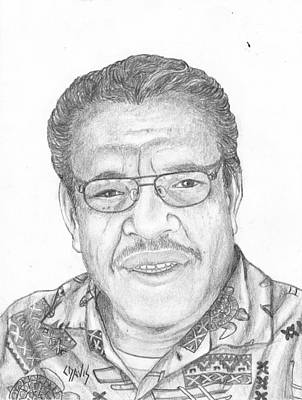 Drawing - Pastor Ronald by Lew Davis