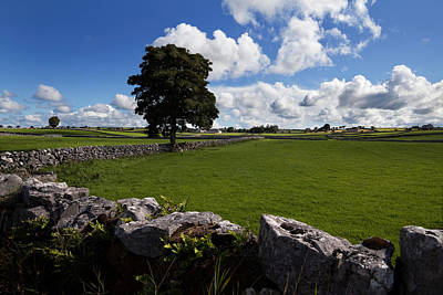 Pastoral Farmland Between Clonbur Art Print by Panoramic Images