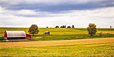 Shed Digital Art - Pastoral Pennsylvania - Paint by Steve Harrington