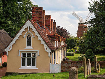 Pastoral Scene - Thaxted Almshouses Art Print