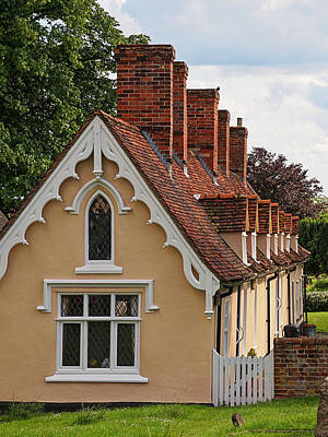 Photograph - Pastoral Scene - Thaxted Almshouses Vertical by Gill Billington