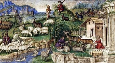 Pastoral Scenes, 15th Century Art Print