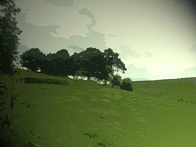 Pasture At Edale End, Looking Across Jaggers Clough Towards Art Print