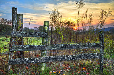 Kentucky Horse Park Photograph - Pasture Fence by Debra and Dave Vanderlaan