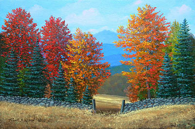 Autumn Scene Painting - Pasture Gate In Autumn by Frank Wilson